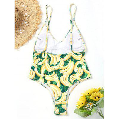 Banana Print Padded High Cut SwimsuitLingerie &amp; Shapewear<br>Banana Print Padded High Cut Swimsuit<br><br>Bra Style: Padded<br>Elasticity: Elastic<br>Gender: For Women<br>Material: Nylon, Spandex<br>Neckline: Spaghetti Straps<br>Package Contents: 1 x Swimsuit<br>Pattern Type: Print<br>Support Type: Wire Free<br>Swimwear Type: One Piece<br>Waist: Natural<br>Weight: 0.2000kg