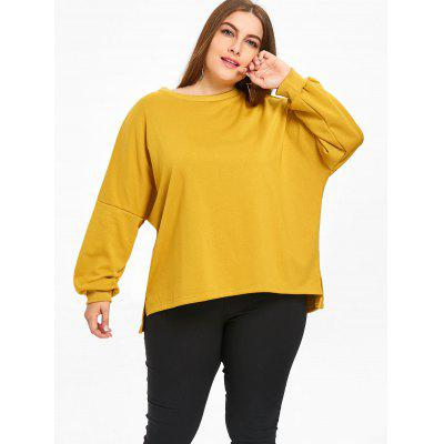 Plus Size Letter Print High Low T-shirtPlus Size Tops<br>Plus Size Letter Print High Low T-shirt<br><br>Collar: Round Neck<br>Material: Polyester<br>Package Contents: 1 x T-shirt<br>Pattern Type: Letter<br>Season: Spring, Fall<br>Shirt Length: Regular<br>Sleeve Length: Full<br>Style: Fashion<br>Weight: 0.5250kg