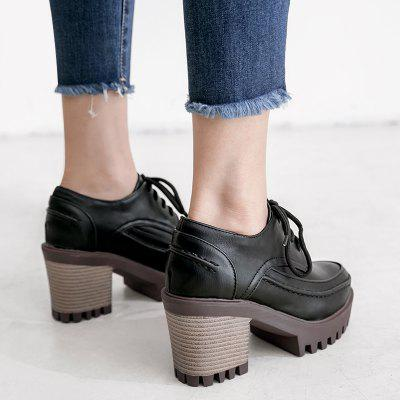 Фото Chunky Heel Lace Up Pumps. Купить в РФ