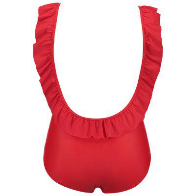 Фото Plus Size Backless Ruffled Swimsuit. Купить в РФ