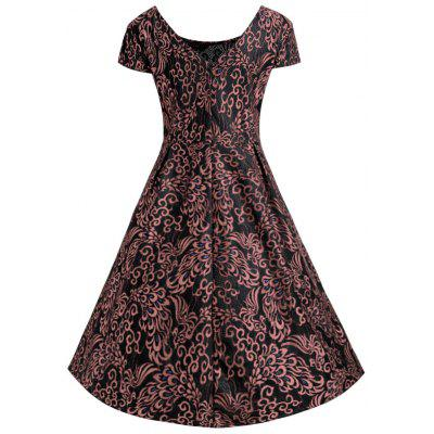 Plus Size Jacquard Lace Midi Rockabilly DressPlus Size Dresses<br>Plus Size Jacquard Lace Midi Rockabilly Dress<br><br>Dresses Length: Mid-Calf<br>Embellishment: Lace,Vintage<br>Material: Lace, Polyester<br>Neckline: Round Collar<br>Package Contents: 1 x Dress<br>Pattern Type: Paisley<br>Season: Winter, Fall<br>Silhouette: Ball Gown<br>Sleeve Length: Short Sleeves<br>Sleeve Type: Cap Sleeve<br>Style: Vintage<br>Waist: High Waisted<br>Weight: 0.4300kg<br>With Belt: No