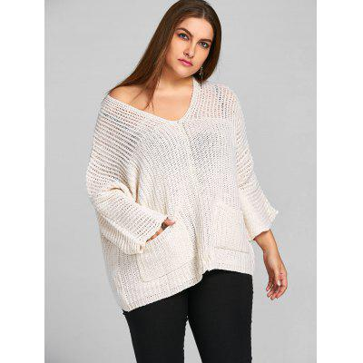 Plus Size Batwing Sleeve Chunky SweaterPlus Size<br>Plus Size Batwing Sleeve Chunky Sweater<br><br>Collar: V-Neck<br>Material: Acrylic<br>Package Contents: 1 x Sweater<br>Pattern Type: Solid<br>Season: Winter, Fall<br>Sleeve Length: Full<br>Style: Fashion<br>Type: Pullovers<br>Weight: 0.5800kg