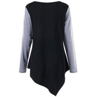 Plus Size Long Sleeve Asymmetric Tunic T-shirtPlus Size Tops<br>Plus Size Long Sleeve Asymmetric Tunic T-shirt<br><br>Collar: Scoop Neck<br>Material: Polyester, Spandex<br>Package Contents: 1 x T-shirt<br>Pattern Type: Others<br>Season: Fall, Spring<br>Shirt Length: Long<br>Sleeve Length: Full<br>Style: Casual<br>Weight: 0.3000kg