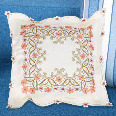 Embroidered Polyester Decorative Square Pillow Case