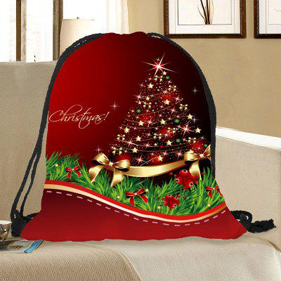 Christmas Ornaments Tree Pattern Drawstring Candy Storage Bag