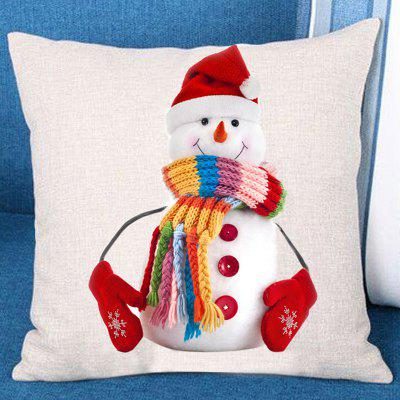 Snowman with Hat Scarf Gloves Pattern Pillow Case