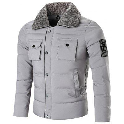 Zip Up with Snap Button Closure Winter Jacket