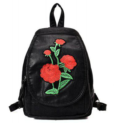 Floral Embroidery Backpack