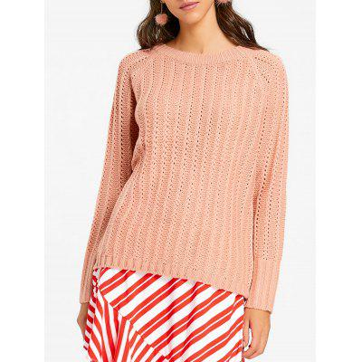 Raglan Sleeve Crew Neck Chunky Sweater