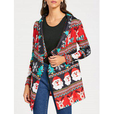 Shawl Collar Christmas Tunic Cardigan