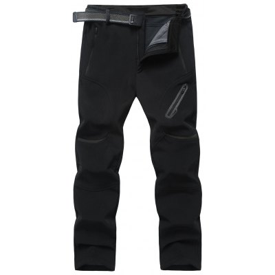 Fleece Zipper Pockets Pants