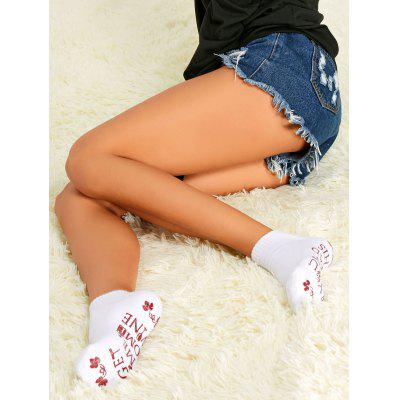 Pair of Letter Graphic Ankle Socks