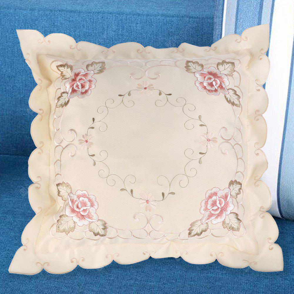Embroidered Polyester Decorative Sofa Throw Pillow Case