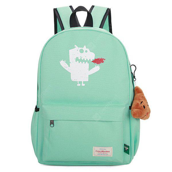 Print Monster Backpack With Handle