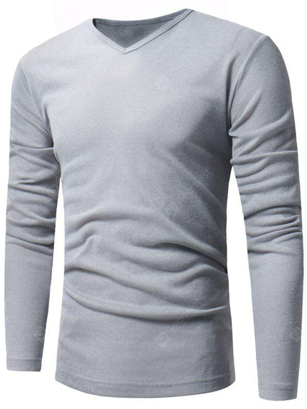 V Neck Pullover Classic Sweater