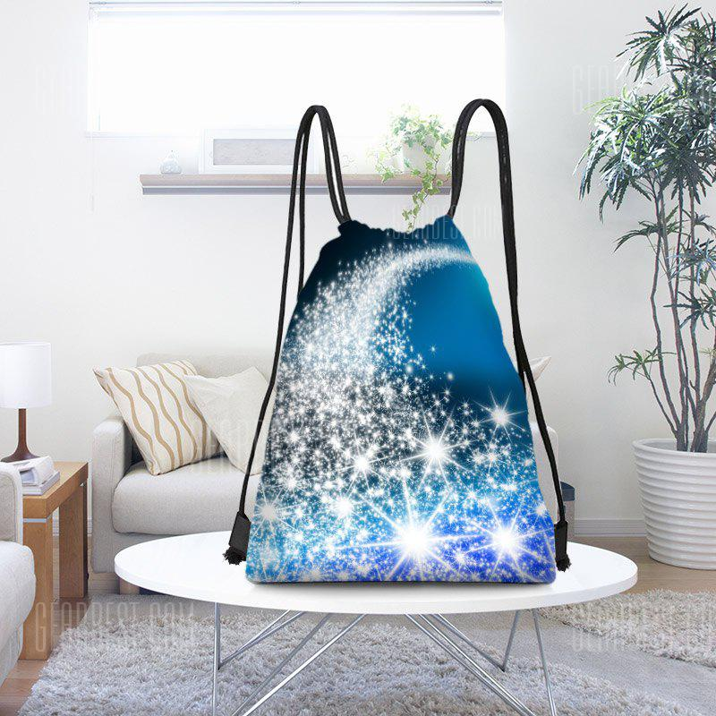 Christmas Starlight Pattern Drawstring Candy Gift Storage Backpack