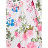 Plus Size Floral Skater Dress with Sleeves - WHITE