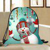 Christmas Snowman Printed Drawstring Candy Storage Backpack - COLORFUL