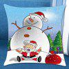 Christmas Snowman Pattern Pillow Case - COLORFUL