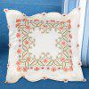 Embroidered Polyester Decorative Square Pillow Case - BEIGE