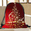 Starlight Christmas Tree Pattern Candy Drawstring Storage Bag - RED AND YELLOW