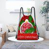Christmas Snowflakes Balls Pattern Drawstring Candy Storage Bag - RED AND WHITE