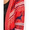Open Front Tunic Christmas Cardigan - RED