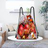 Balls Ornaments Print Christmas Drawstring Backpack - COLORIDO