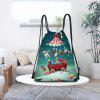 Christmas Candy World Print Drawstring Backpack - COLORFUL