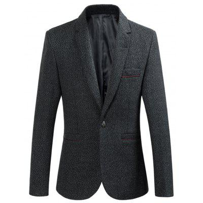 Lapel One Button Edging Woolen Blazer