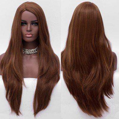 Long Side Parting Layered Straight Synthetic Wig