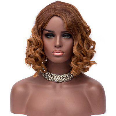 Short Side Parting Colormix Fluffy Loose Wave Synthetic Wig