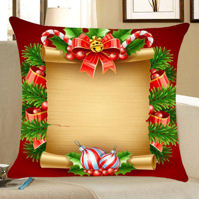 Padrão de Natal Scroll Pattern Throw Pillow Case