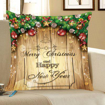 Merry Christmas Decorations Printed Throw Pillow Case