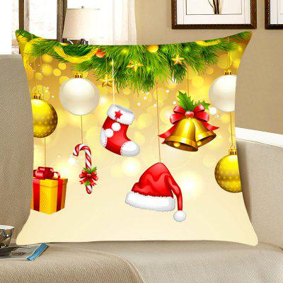 Christmas Tree Decorations Print Throw Pillow Case