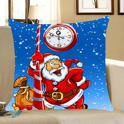 Santa Claus Printed Home Decor Throw Pillow Case