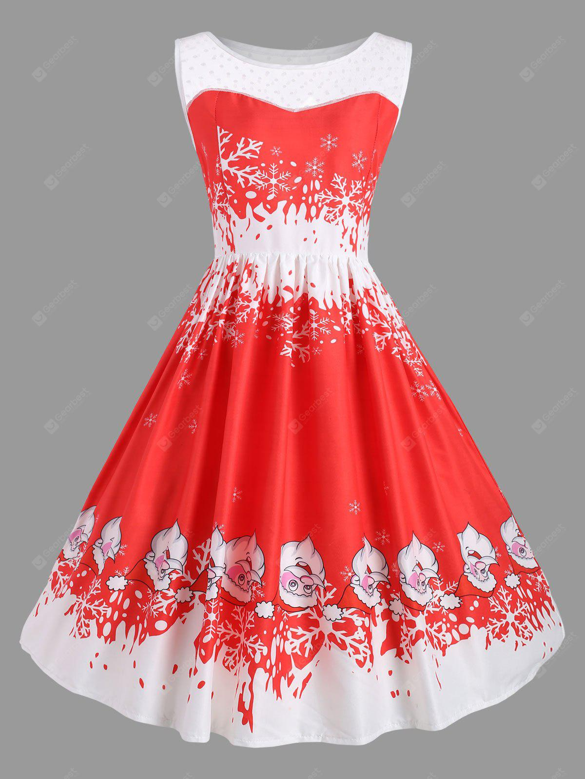 Snowman Swing Vintage Party Dress