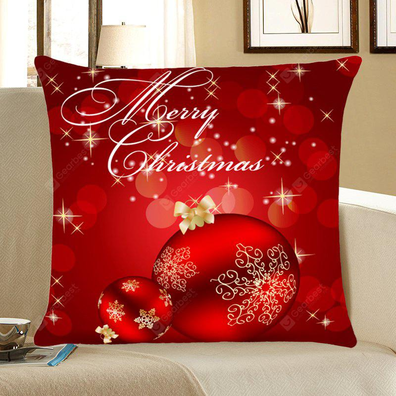 Christmas Balls Printed Home Decorative Throw Pillow Case