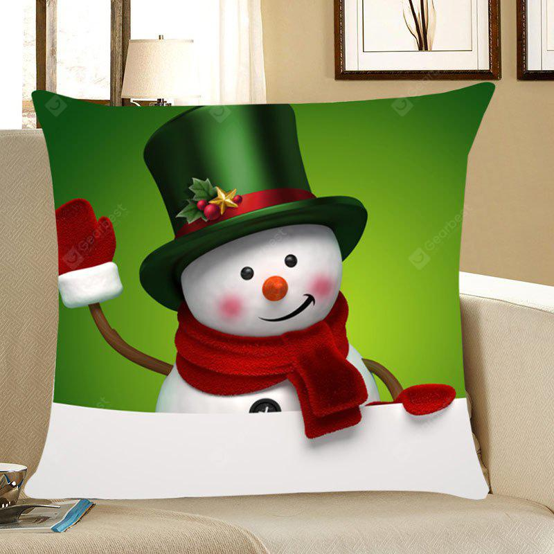 Christmas Snowman Patterned Throw Pillow Case