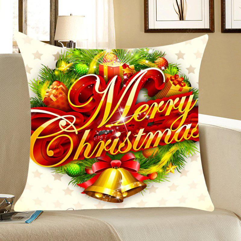Christmas Small Bells Gifts Patterned Throw Pillow Case
