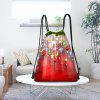 Christmas Hanging Ornaments Pattern Candy Bag Drawstring Backpack - COLORFUL