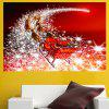 Natal Papai Noel Carriage Pattern Wall Sticker - COLORIDO