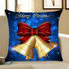 Christmas Bells Printed Home Decor Throw Pillow Case - BLUE