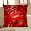 Christmas Balls Printed Home Decorative Throw Pillow Case - DEEP RED
