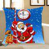 Santa Claus Printed Home Decor Throw Pillow Case - AZUL Y ROJO
