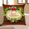 Christmas Small Balls Printed Throw Pillow Case - DARK RED