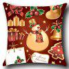 Christmas Decorations Pattern Throw Pillow Case - RED AND GOLDEN