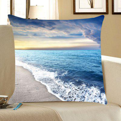 Seascape Beach Patterned Throw Pillow Case