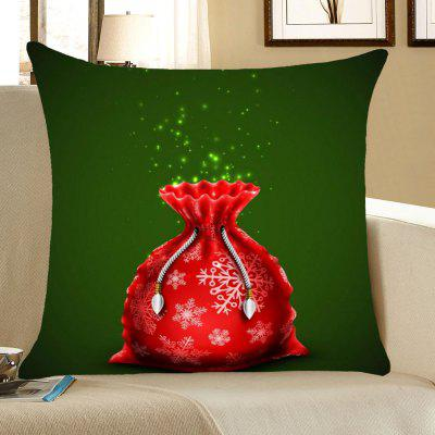 Buy Christmas Gift Bag Pattern Decorative Pillow Case, RED AND GREEN, Home & Garden, Home Textile, Bedding, Pillow for $4.42 in GearBest store