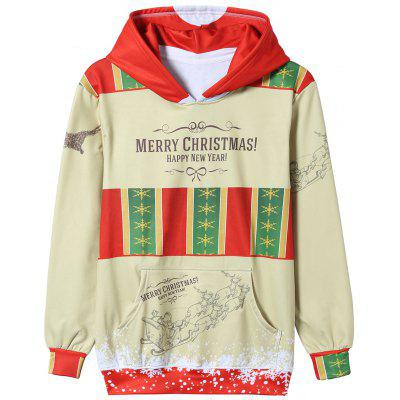 Christmas Graphic Paint Print Pullover Hoodie